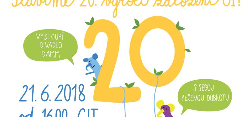 Výročí 20. let založení organizace